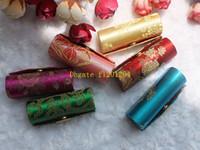 nuevos diseños de pintalabios al por mayor-100 unids / lote retro nuevo lápiz labial brocado bordado diseño de flores caja del titular con espejo bolsas de cosméticos casos multicolores