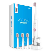 Wholesale toothbrushes heads - Lansung A39Plus Wireless Charge Sonic Electric Toothbrush Waterproof Electric Teeth Brush 4 Head Tooth Brush Rechargeable Electric Toothbru