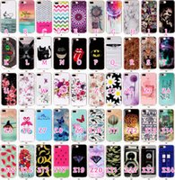 Wholesale Silicone Butterfly Iphone Cases - Marble Skull Diamond Camouflage Animal Butterfly Soft TPU Gel Case For Iphone 7 Plus Dolphin Dreamcatcher Batman flower fruit Cover Skin
