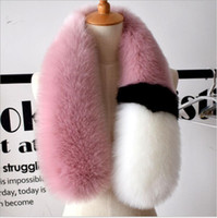 Wholesale Polka Scarf Chiffon - 2017 womens winter newest fashionable scarf luxury brand scarves fox fur scarfs foulards echarpe hiver femme fulares mujer schal luxus mark