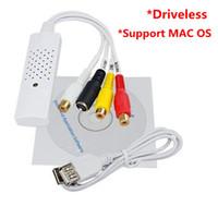 vhs adaptörleri toptan satış-Easycap USB2.0 Video DVD Win7 / 8 XP Vista MAC OS VHS Ses Yakalama Adaptörü