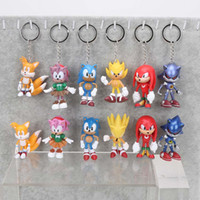 Wholesale Avengers Characters - 3inch 7cm SEGA Sonic the Hedgehog Figure Toy PVC toy Sonic Characters figure toys brinquedos Doll 6pcs set christmas gift for children