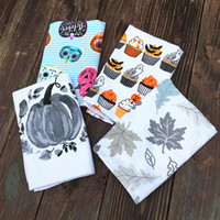 Wholesale Cotton Tea Towels Wholesale - Cartoon Pumpkin Tea Towel Pure Cotton For Household Kitchen Cleaning Cloth Many Styles Halloween Holiday Printed Dish Towels 6 1ad C R