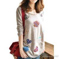 Wholesale Girls Chiffon Polka Dot Shirt - embroidery floral women linen blouses 2016 autumn kimono shirts plus size S-4XL mori girl tops vintage blusas y camisas mujer