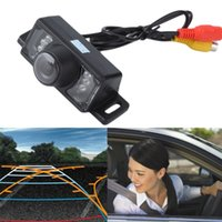 New Universal HD 135 graus visão traseira do carro reversa backup Color Camera Night Vision 7 LED
