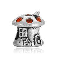 Wholesale Mushroom Beads Wholesale - European Pandora Charms Metal Bead Fits Pandora Jewelry Bracelets Wholesale China Bracelet accessories beads mushroom house beads