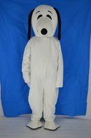 Wholesale White Dog Costume For Adults - plush bodysuit snoopy dog mascot costumes for birthday party adult size custom made free shipping white