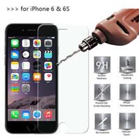 tela para 4s venda por atacado-2-pack protetores de tela de vidro temperado para apple iphone 4s 5 / 5s 6/6 s / plus 7/7 plus 2.5d explosão filme protetor de tela shatter