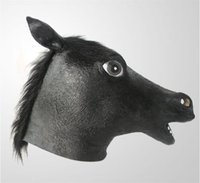 Wholesale Gangnam Style Wholesale - HOT sale GANGNAM style horse animal full face mask cosplay mask natural latex party mask for men