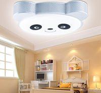 Wholesale Cartoon Panda Lamp - Wholesale LED energy saving lamp Eye children's bedroom. Cartoon boy room ideas led ceiling lights. Panda eye bedroom saving lamps