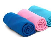açık hava ter havlu toptan satış-Renk Sihirli Soğuk Havlu Egzersiz Spor Ter Yaz Buz Havlu Açık Spor Buz Serin Havlu PVA Hipotermi 90x30 cm Soğutma Havlu