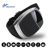 Wholesale Music Player Timer - Bluetooth Mini Speaker Smart Watch Speakers with Time Display Self-timer Remote Camera Handsfree for Phone TF MP3 Music Player FM Subwoofers