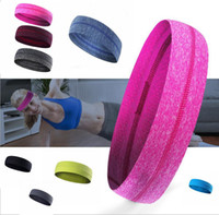 Wholesale Headbands Sports Solid Color - Fashion sports headband Fitness running Yoga Elastic hairband Solid color silicone non-slip Hair Accessories Hair Headwear KKA2346