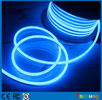 Wholesale Led Flex Tube Rope Light - 50M Spool Mini LED Neon-Flex 8*16mm Ultra Thin Flexible LED Neon Rope Light Strip 110V DIY Neon Tube Outdoor Holiday Lighting