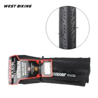 Wholesale Folding City Bike - WEST BIKING 700*23C Folding Tire 60TPI Mountain Bike Bicycle Tires Neumaticos Suit For City Competition Cross-country Cycling