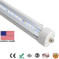 ingrosso lampadine fluorescenti monoforo t8-40W 60W 8FT LED lampadine luce Singolo perno 8 piedi LED lampada tubo SMD2835 2.4m tubo fluorescente a led T8 85-265V