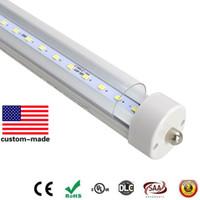 Wholesale T8 38w Lamp - 38W 48W 55W 8FT LED bulbs light Single pin 8 feet LED Tube lamp 4 SMD2835 2.4m led fluorescent tube T8 85-265V