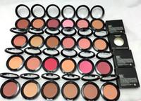 pinceles al por mayor-Nuevo Maquillaje Shimmer Blush Sheer Tone 6g Blush 24 Colores diferentes Sin espejos Sin cepillo 10pcs
