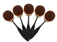 Wholesale Large Toothbrush - Large Oval Brush Toothbrush Shaped Makeup Brush BB Cream Foundation Makeup Brushes Beauty Oval Cream Puff Cosmetic Blend Tools