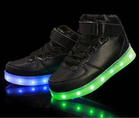 Wholesale Dance Sneakers New - NEW style children's LED light shoes kids Nightclub dance shoes boys and girls sneaker fashion shoes casual shoes for 4-16 years child.