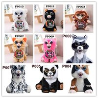 New Face Change Feisty Animais de estimação Animal Stuffed Peluche Brinquedos Urso Gato Rabbit Monkey Expression Changes with a Squeeze for Baby Christmas Gift