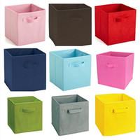ingrosso detriti di tessuto-Scatola di immagazzinaggio Non tessuto Fold Boxes detriti di vestiti Multi funzione Locker Una varietà di colori IC720