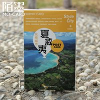 Wholesale Photography Greeting Cards - Wholesale- Travelling Creative Photography Scenic Fantanstic Postcard Souvenir Greeting Card Collection Good Quality For Universal PL