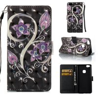 estilete de flores al por mayor-3D Dreamcatcher Billetera de cuero Flower Owl Flip Funda para Huawei P8 LITE 2017 P9LITE P10LITE SONY XA 2017 LG STYLUS LS775 LS770