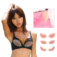 Wholesale Bikini Push Up Insert - Wholesale-Sexy Bra Pads Push Up Silicone Bra Inserts Invisible Pads Breast Enhancer Intimates Accessories For Women Dress Bikini
