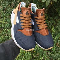 2017 Moda Huarache ID Custom Breathe Zapatillas Para Hombres Mujeres, Hombres Azul Marino Tan Denim Aire Huaraches Multicolor Huraches Zapatillas