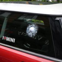 körperaufkleber für suv großhandel-Auto Suv 3D Golf Ball Hit Glas Fenster Riss Aufkleber Körper Klebstoff Aufkleber Trim