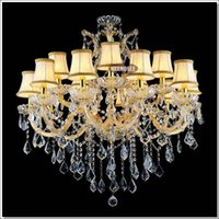 Wholesale Luminaire Cristal - Gold color cristal chandelier Lighting Fixture Big Crystal Chandelier Lights incandescent luminaire for Hotel,Restaurant,Foyer