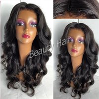 Wholesale Dark Brown Curly Fashion Wig - 2016 Super fashion wavy wigs silk top full lace human wigs lace front wigs with baby hair