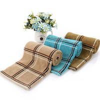 Wholesale Cheap Wholesale Face Towels - 2016 Cheap Free Shipping Factory Wholesale Cotton Towel 40 * 90 Thick Extended 170 Grams Of Dark Squares Bath Towel Fitness Towel HY1256