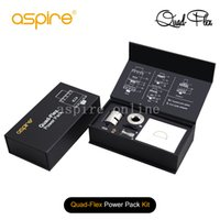 Barato Primeiros Kits Por Atacado-Atacado 100% Original Aspire Quad-Flex Power Pack Kit Preto SS Aspire Quad Flex Power Pack Tank Primeiro estoque