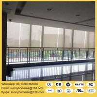 Wholesale Size customed motorized roller shades double layer roller blinds compatible with zigbee zwave and Lutron system