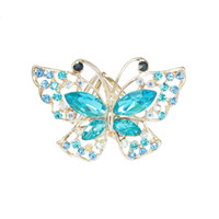 Wholesale scarf ring buckle - New model crystal Butterfly Rhinestone scarf buckle holder for Lady Silk scarf rings jewelry brooch wedding brooch gift