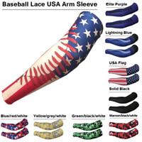 Wholesale Lace Wholesale Usa - Baseball Lace USA Arm Sleeve