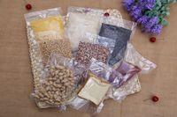 bolsas de vacío al por mayor-bolsa de envasado de alimentos de varios tamaños Bolsas de envasado al vacío transparentes Barrera húmeda Open Top Heat Seal Bolsa de plástico Bolsa de embalaje de almacenamiento en frío