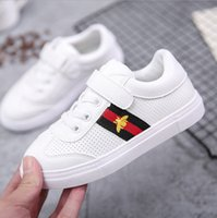 Wholesale White Baby Canvas Shoes - Children's casual shoes plus cashmere warm board shoes baby cotton girl wild small white tide