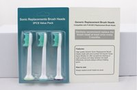 Wholesale Electronic Toothbrush Heads - Hot In stock HX6013 Sonicare Toothbrush Head packaging Electronic Replacement Heads For Phili Sonicare ProResults HX6013 Toothbrush free DHL