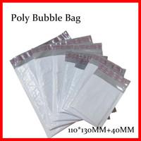 Wholesale Bubble Envelopes Wholesale - Wholesale-GOOD BULK PRICE 50 Poly Bubble Mailers Padded Envelopes Bags 110mm*130mm+4CM USABLE SIZE