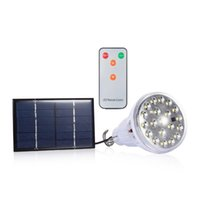Wholesale Dimmable Camping - New Dimmable 20 Led Solar Bulb Light Indoor Led Bulb Lamp Outdoor Solar Powered Garden Light Camping Tent Light with Remote Control