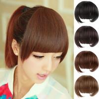 Wholesale Fringe Material - Wholesale-false Fringe Bangs high temperature material sideburns Hair Hair extensions #L04706