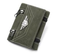 Wholesale man purse wallet for sale resale online - Hot sale sports Army Canvas vintage Wallet Fashion Wallets Men s Pockets Card Clutch Cente Mility Zipper Bifold Purse Casual for men