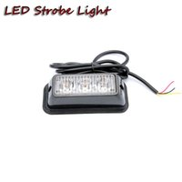 Wholesale Wholesale Led Strips For Motorcycle - Free shipping 2pcs high power LED warning light strobe emergency safety light amber white for offroad motorcycle 4x4 equipment truck