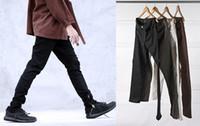 jean slim marron hommes s achat en gros de-Nouveaux brouillards de brouillard justin bieber maigre cheville blanc / marron / vert / noir jeans 30-36 hommes de vêtements de marque