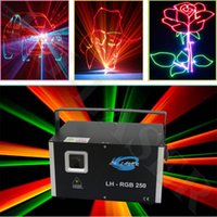 Voice-activated outdoor entertainment systems - High speed kpps scanner system Outdoor Disco Christmas Decoration Laser Projectors Watt RGB Animation logo Laser Lights