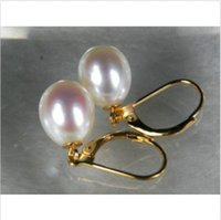 Wholesale Pearl Earrings 11 Mm - stunning a pair of 10-11 mm natural south sea white pearl earring 14K white