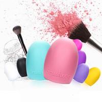 Wholesale Hair Board - Egg Cleaning Glove MakeUp Washing Brush Scrubber Board Cosmetic Brushegg Cosmetic Brush Egg 7colors brushegg